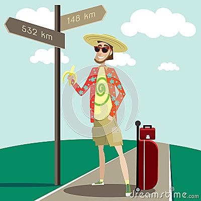 Free Happy Tourist Stock Images - 57253294