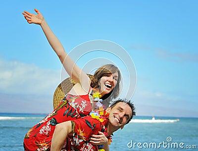 Happy Tourist Couple Stock Photo