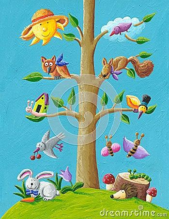 Free Happy Tree Royalty Free Stock Photo - 21175695