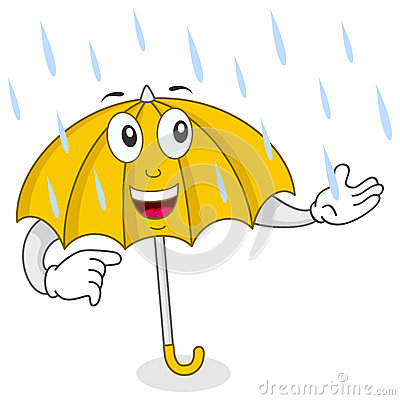Happy Umbrella Character