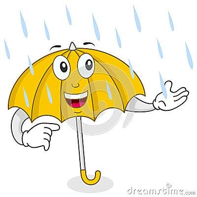 Happy Umbrella Character