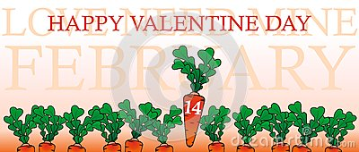 Happy valentine day with a carrots