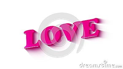 Happy Valentine day social media text banner De geanimeerde grafische tekst van de liefde schijnt aan met popppinkleuren scherm i vector illustratie