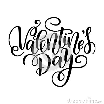 Free Happy Valentine S Day  Card. Greeting Card To Day Of Saint Valentine. Vector Illustration Isolated On White. Cute Hand-writ Stock Photos - 106949993