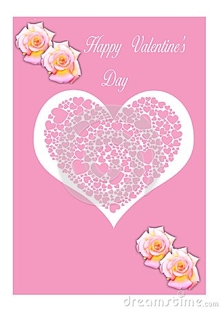 Happy Valentine s Day Card Illustration