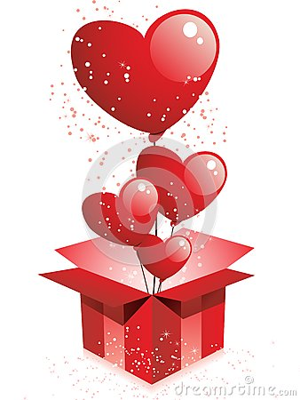 Happy Valentine s Day Gift with Balloons