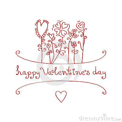 Happy Valentine s day. Greeting card
