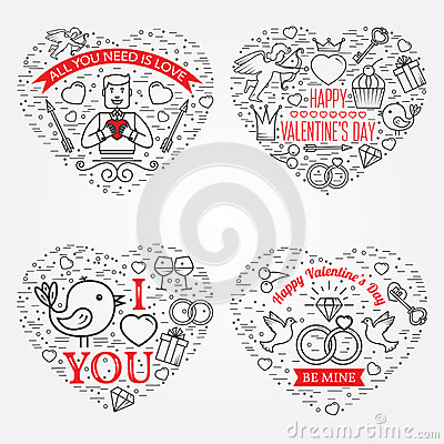 Free Happy Valentine S Day Greetings Card, Labels, Badges, Symbols, I Stock Images - 65983634