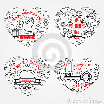 Free Happy Valentine S Day Greetings Card, Labels, Badges, Symbols, I Stock Images - 65983654