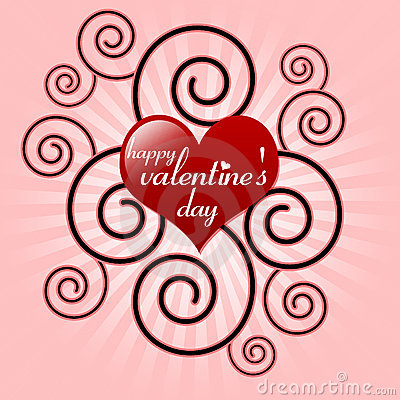 Valentine Messages on Happy Valentine S Day Message In Red Heart Thumb17590965 Jpg
