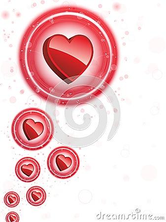 Happy Valentine s Day Neon Heart Bubbles