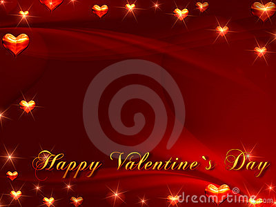 Happy valentine s day in red