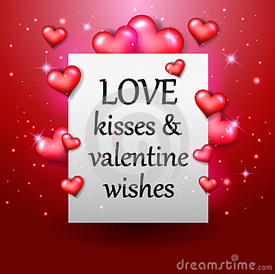 Happy Valentine`s day red heart Stock Photo