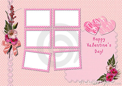 Happy Valentine s Day - Retro Photo Album