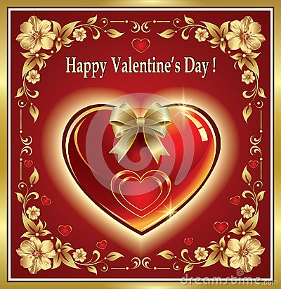 Free Happy Valentine`s Day. Valentine With Heart On A Red Background Stock Photography - 109030482