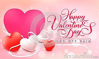 Happy Valentine`s day Cartoon Illustration