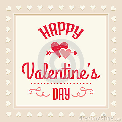 Free Happy Valentines Day Card Royalty Free Stock Photo - 36858785