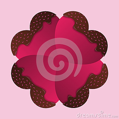 Free Happy Valentines Day Card. Chocolate Hearts. Vector Stock Image - 49828871