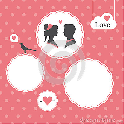 Happy Valentines Day Card, Template , Valentines Day Background Royalty Free Stock Photos - Image: 28842658