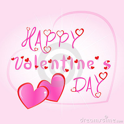 Happy Valentines day greeting card illustration