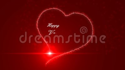 Happy valentines day stock video footage