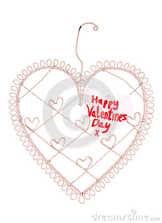 Happy valentines day message on a heart note board