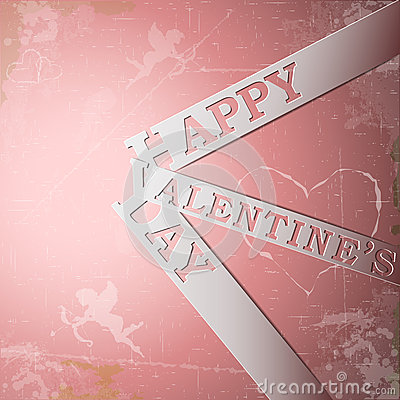 Happy Valentines Day paper strips