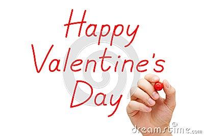 Happy Valentines Day Red Marker