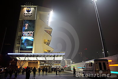 Happy Valley Racecourse, Hong Kong Editorial Stock Photo