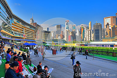 Happy valley racecourse, hong kong