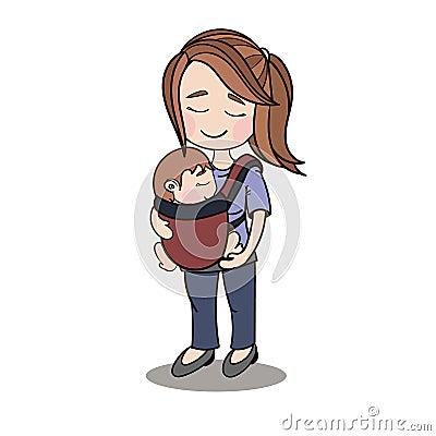 happy mother parenting