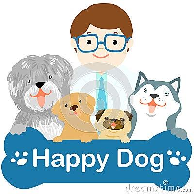 Happy dog white background - photo#23