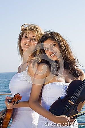 Happy violin player