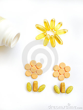Free Happy Vitamin Pills Stock Images - 7080904