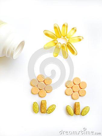 Happy vitamin pills