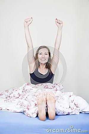 Happy waking up