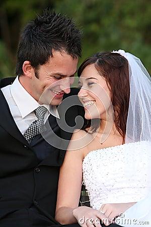 Free Happy Wedding Couple Stock Photo - 22159240