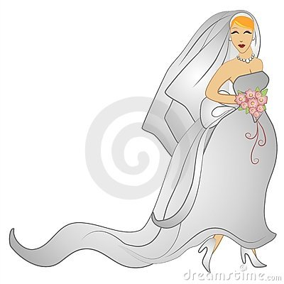 Happy Wedding Day Bridal Gown