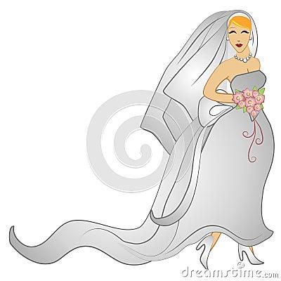 Happy Wedding Day Bridal Gown