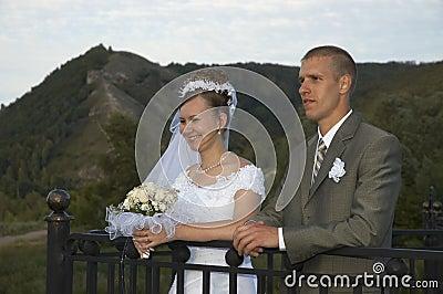 Happy wedding smile