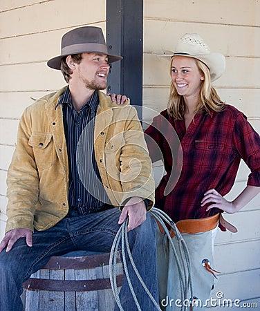 Happy western couple