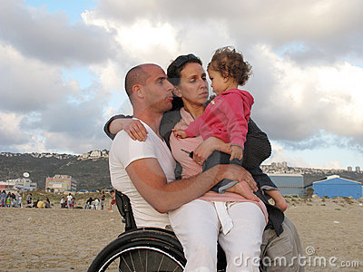 Happy Wheelchair Family
