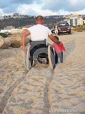 Happy Wheelchair Family