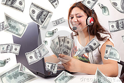 Happy Woman Earn Online Money