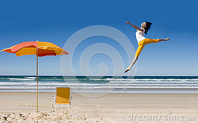 Happy woman expressing her freedom