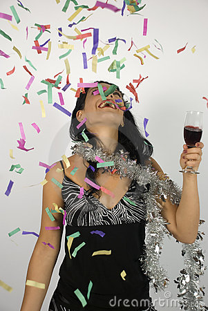 Free Happy Woman New Year Party Stock Photos - 6576913