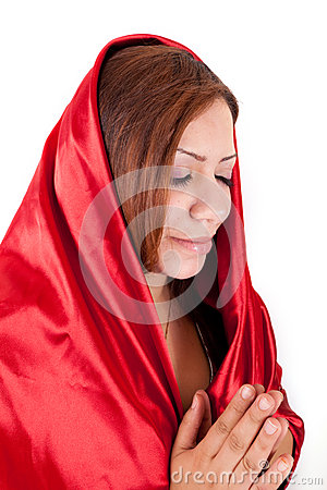 Happy Woman Praying