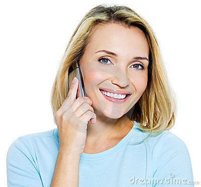Free Happy Woman Speaks On The Phone Stock Photos - 16380033