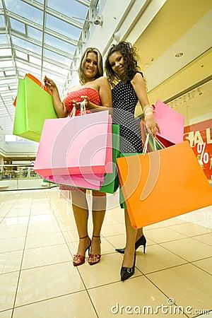 Happy womans in shop