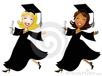 Happy Women Graduates Stock Images - Image: 5430194